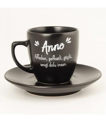 Anne Türk Kahvesi Fincanı (Siyah)