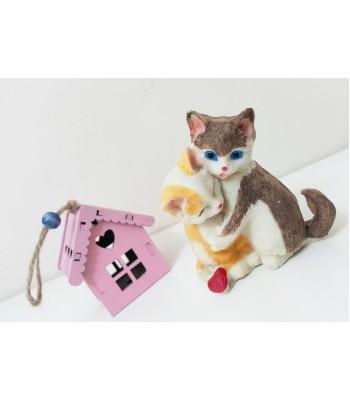 2'li Küçük Kedi Biblo