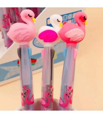 3 Renk Yazan Flamingo Kalem