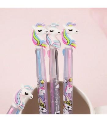 3 Renk Yazan Unicorn Kalem