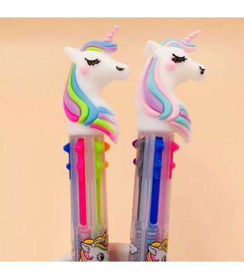 6 Renk Yazan Unicorn Kalem