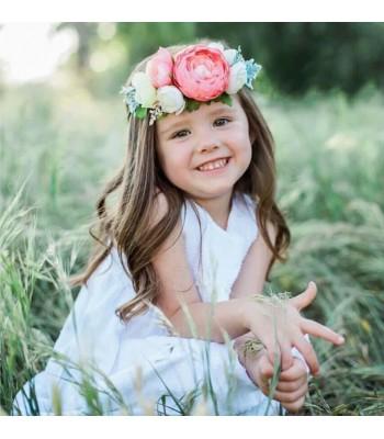 Çiçekli Çocuk Saç Bandı