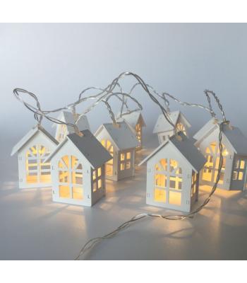 10'lu Ahşap Ev Şeklinde Led Işık