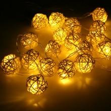 Rattan Hasır Dekoratif Led Işık