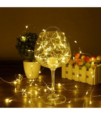 Gümüş Tel Dekoratif Led Işık