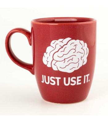 Just Use It Yazılı Kırmızı Parlak Oval Kupa