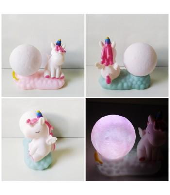 Ay & Unicorn Sevimli Gece Lambası