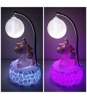 Ayarlanabilen Ay & Unicorn Gece Lambası